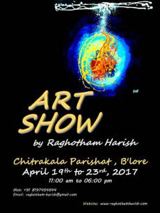 Art Show by Raghotham Harish at Chitrakala Parishath, Bengaluru